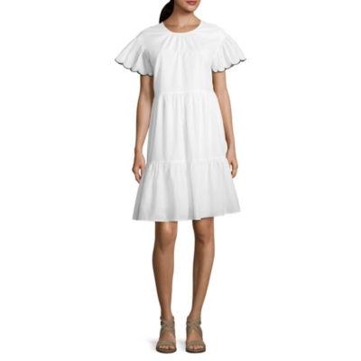 a.n.a. Scallop Swing Dress