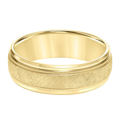 Unisex 7mm 14K Gold Wedding Band