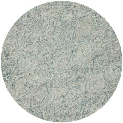 Safavieh Ikat Collection Cheshunt Geometric RoundArea Rug