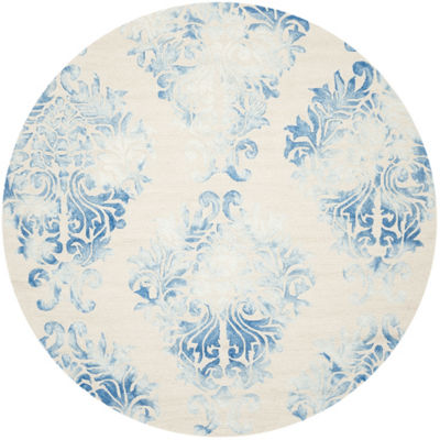 Safavieh Dip Dye Collection Collin Floral Round Area Rug