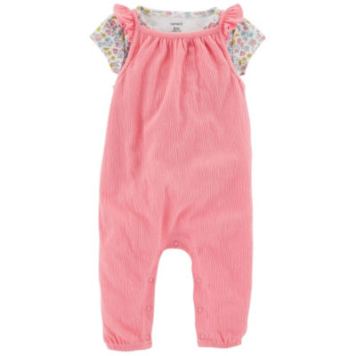 Carter's Little Baby Basics 2-pc. Jumpsuit Set - Girls