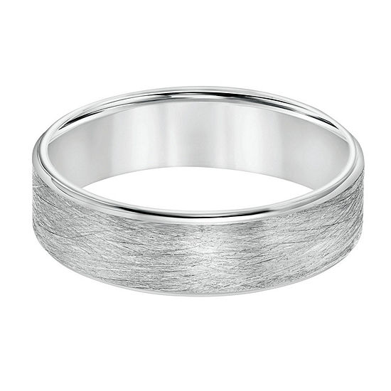 6MM 14K White Gold Wedding Band