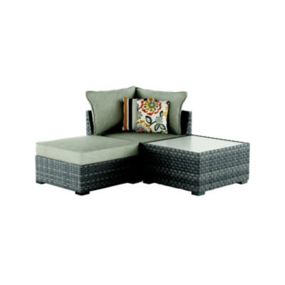 Outdoor by Ashley® Spring Dew 3-Piece Patio Sectional with Cushion