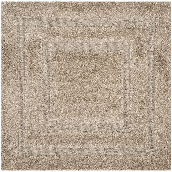 Safavieh Shag Collection Smith Solid Square Area Rug