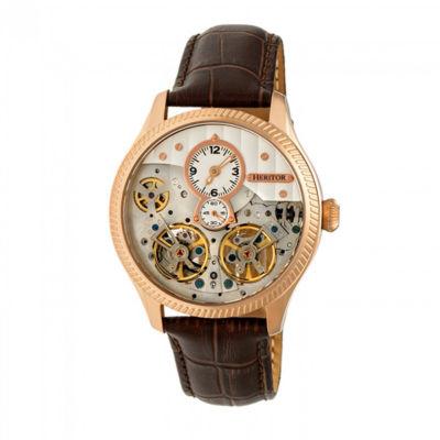 Heritor Unisex Brown Strap Watch-Herhr7305