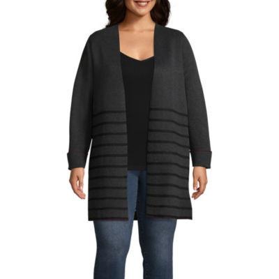 Alyx Long Sleeve Stripe Cardigan - Plus