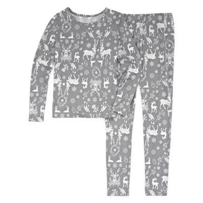 North Pole Trading Company Deers and More 2 Piece Pajama Set - Girl's