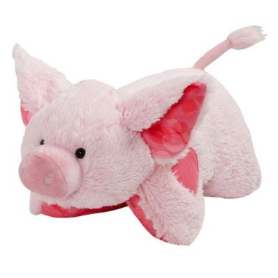 """Pillow Pet 16"""" Sweet Scented Bubble Gum Piggy"""