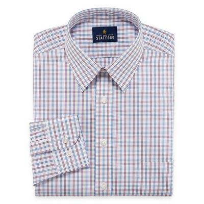 Stafford Comfort Stretch Long Sleeve Dress Shirt