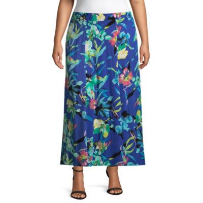 Alyx Floral Maxi Skirt - Plus