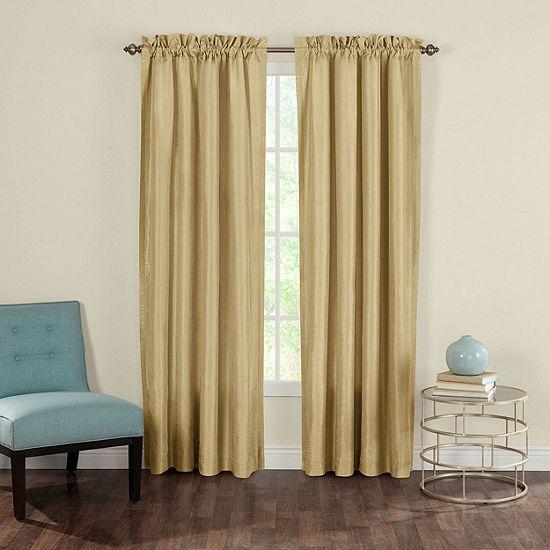 Heritage Landing Faux-Silk 2-Pack Rod-Pocket Curtain Panels