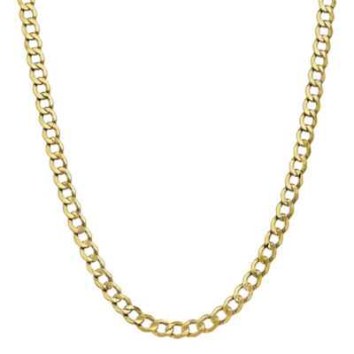 10K Gold 18 Inch Semisolid Curb Chain Necklace