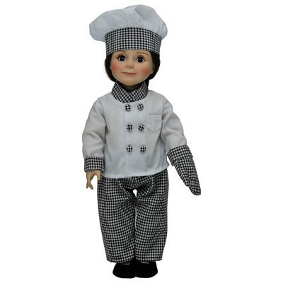 The Queen's Treasures Chef's Outfit & Shoes; 18 Inch Doll Clothes