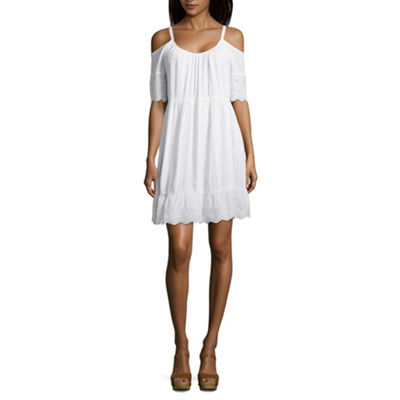 Spense Short Sleeve Swing Dresses