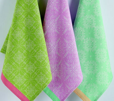 Easter Ornamental Jacquard Dishtowel Set - Set of 3