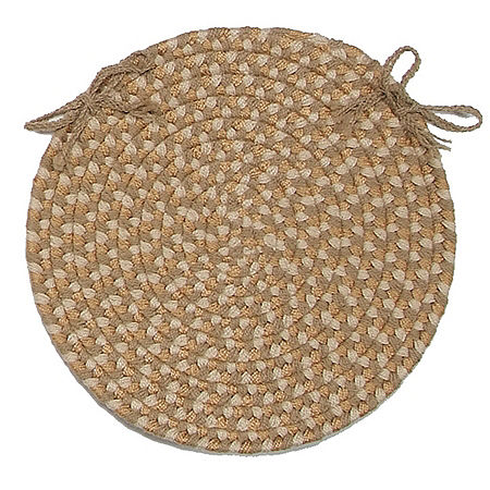 Colonial Mills Brook Farm Braided Indoor Outdoor Chair Pads, One Size , Beige