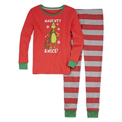 Grinch 2pc Pajama Set - Girls