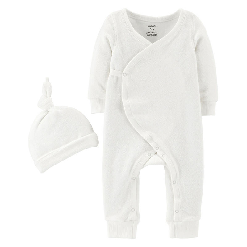 Carters Little Baby Basics 2-pc. Layette Set-Baby Unisex, Unisex, 3 Months, White