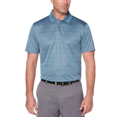 PGA TOUR Easy Care Short Sleeve Jacquard Polo Shirt