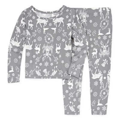NORTH POLE TRADING COMPANY DEERS AND MORE 2 PIECE PAJAMA SET - GIRL'S TODDLER