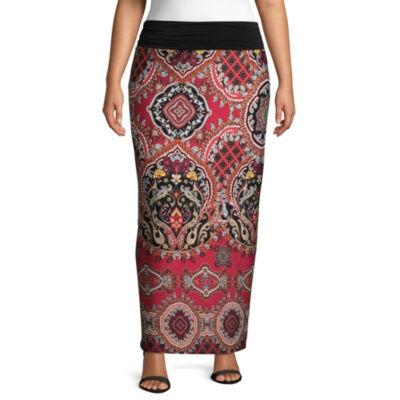 Alyx Printed Maxi Skirt - Plus
