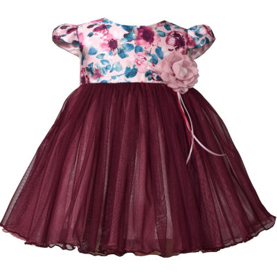 Bonnie Jean Floral A-Line Dress - Baby Girls