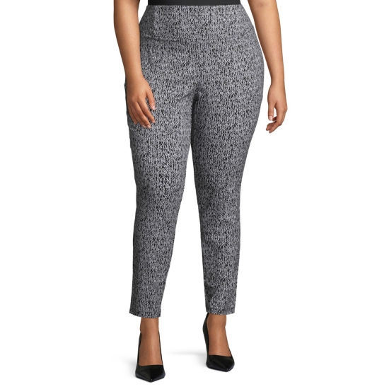 Worthington Skinny Fit Pull On Pants Plus Jcpenney