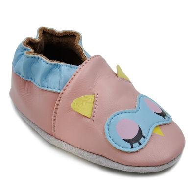Momo Baby Girls Soft Sole Leather Shoes - Sleepy Owl