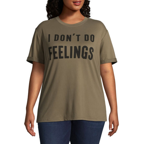 "I Don't Do Feelings"" Tee - Juniors Plus"