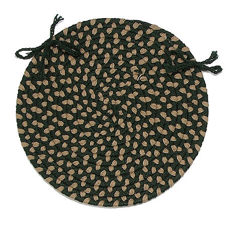 Colonial Mills Brook Farm Braided Indoor Outdoor Chair Pads, One Size , Green
