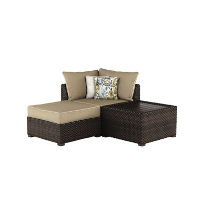 Outdoor by Ashley® Spring Ridge Lounge Patio Chair with Ottoman And Table