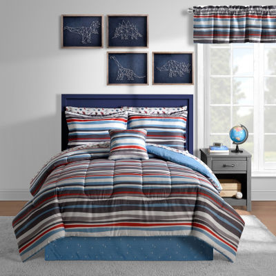 Space Stripes Complete Bedding Set with Sheets