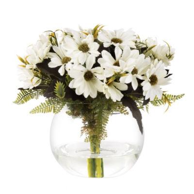 Pure Garden Daisy Artificial Floral Arrangement