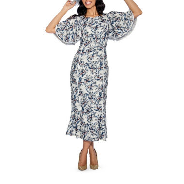 Giovanna Collection Women's Printed Long Dress