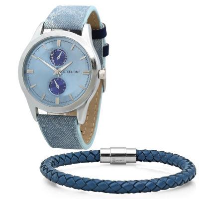 Steeltime Mens Blue Bracelet Watch-998-005-Bw
