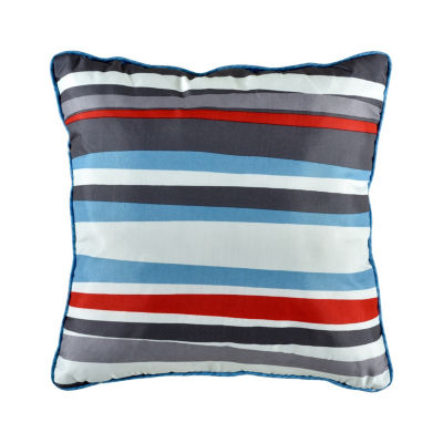 Space Stripe Square Throw Pillow