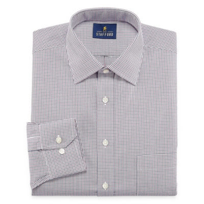 Stafford Executive Non-Iron Cotton Pinpoint Oxford Mens Spread Collar Long Sleeve Dress Shirt