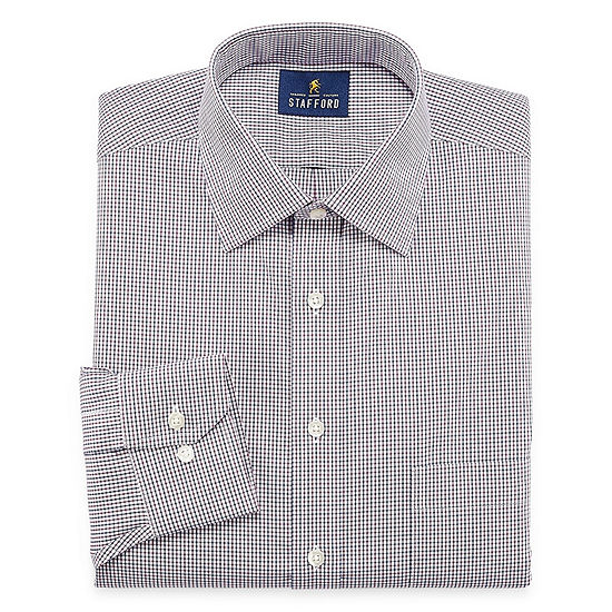 Stafford Executive Non-Iron Cotton Pinpoint Oxford Mens Spread Collar Long Sleeve Dress Shirt