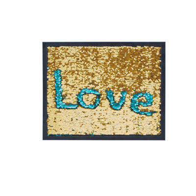 Intelligent Design Blush Mermaid Reversible Sequins Message Board with Frame