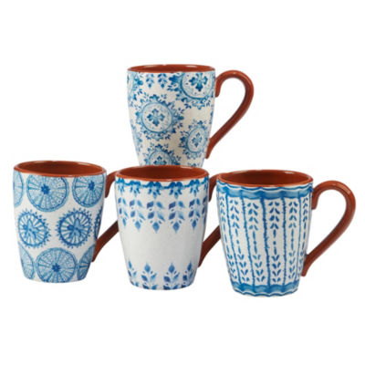 Certified International Porto 4-pc. Coffee Mug