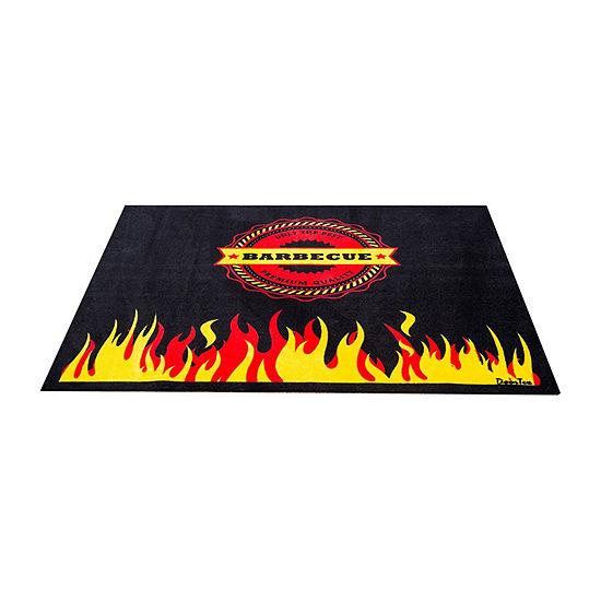 Doortex Bbq Mat Under Grill Mat Fire Retardant And Flame Resistant Mat With Cook Design