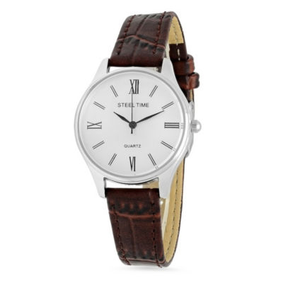 Steeltime Womens Brown Bracelet Watch-998-025-W
