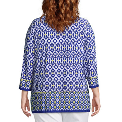 Lark Lane Capri Cool Printed Tunic - Plus