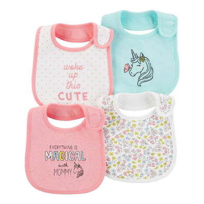 Carter's Little Baby Basics Girls 4-pc. Bib