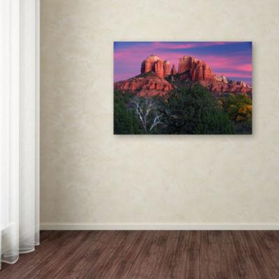 Trademark Fine Art Mike Jones Photo Sedona Cathedral Rock Dusk Giclee Canvas Art