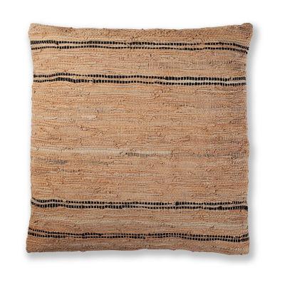 St. Croix Trading Matador Leather Chindi Pillow