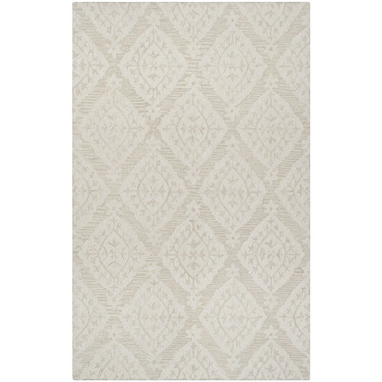 Safavieh Micro-Loop Collection Tracery Damask Square Area Rug