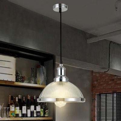 Kopant 1-light Frosted Shade Glass Chrome Pendant Edison Bulb Included