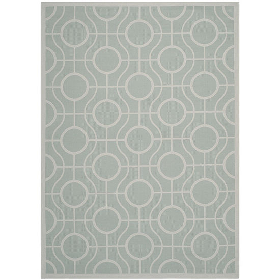 Safavieh Courtyard Collection Hilda Geometric Indoor Outdoor Area Rug