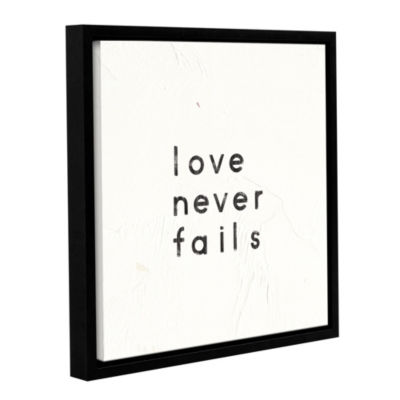 Words Of Encouragement VI Floater-Framed Gallery Wrapped Canvas